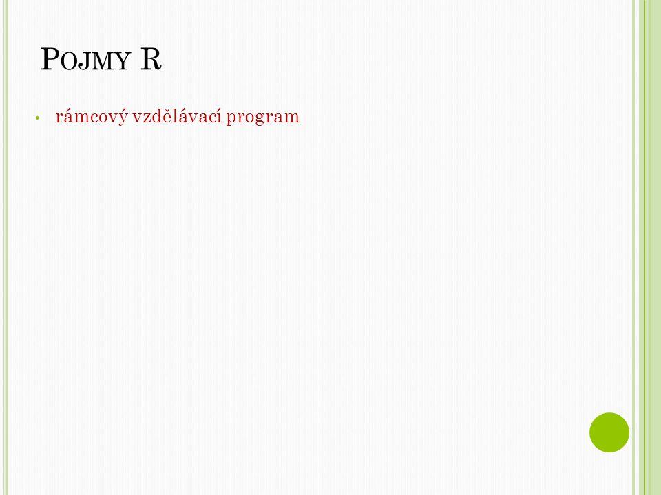 Pojmy R rámcový vzdělávací program