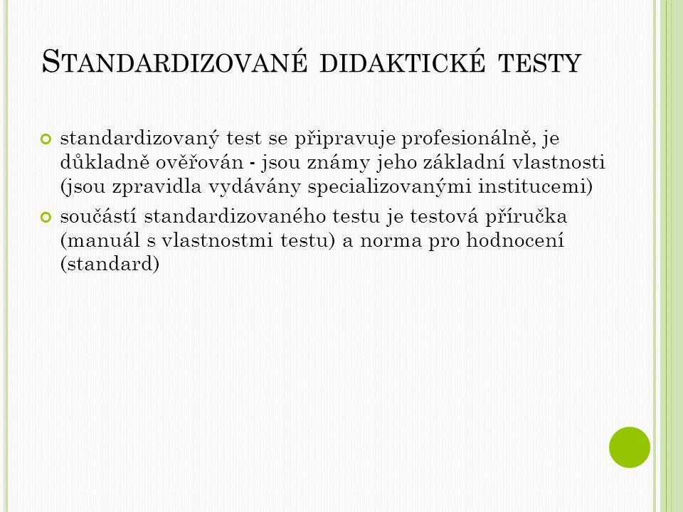 Standardizované didaktické testy