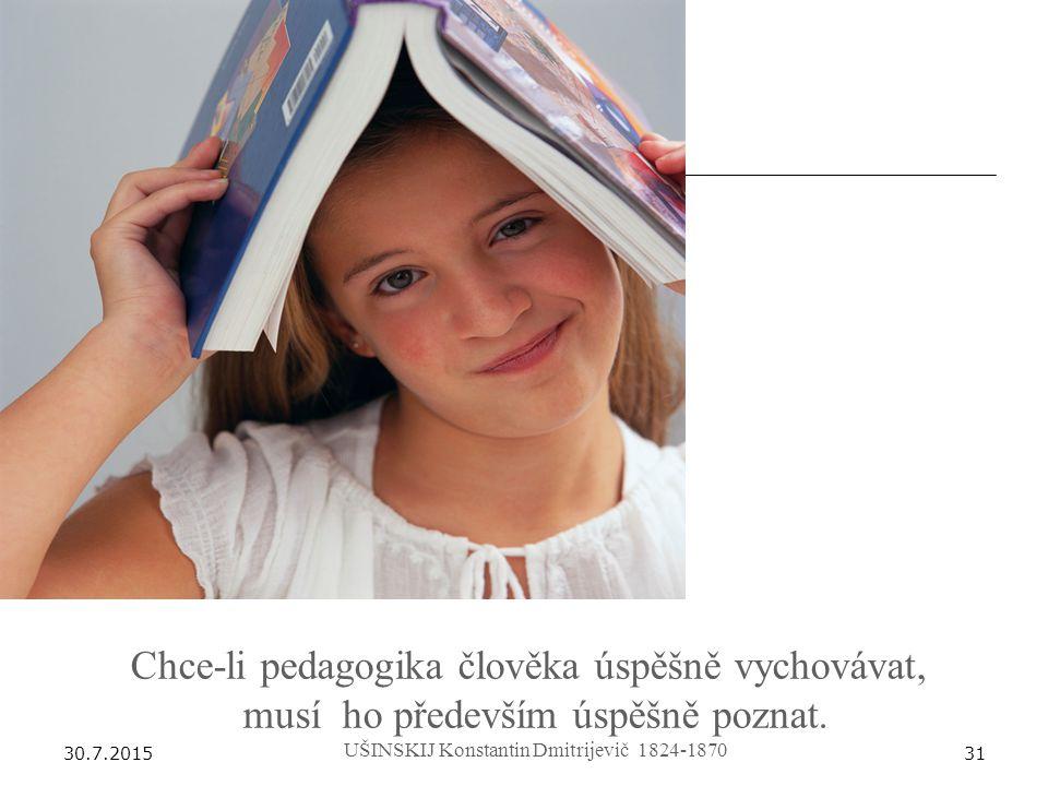 Chce-li pedagogika člověka úspěšně vychovávat,