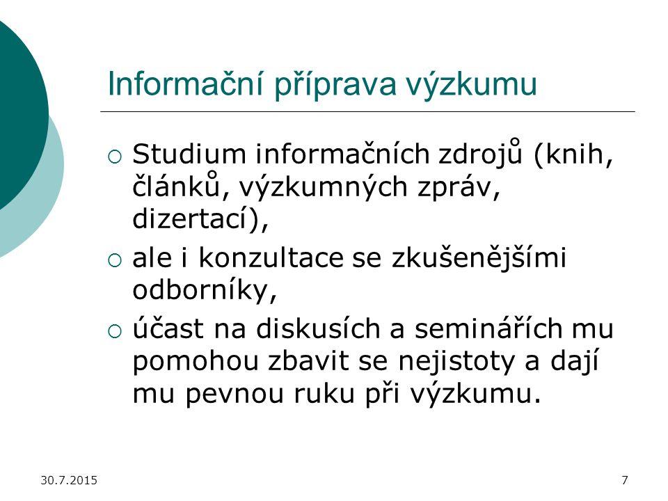Informační příprava výzkumu