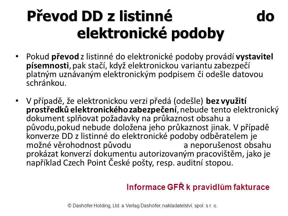 Převod DD z listinné do elektronické podoby