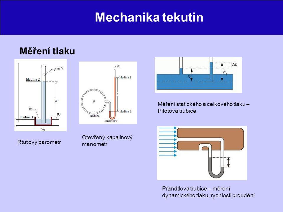 Mechanika tekutin Měření tlaku
