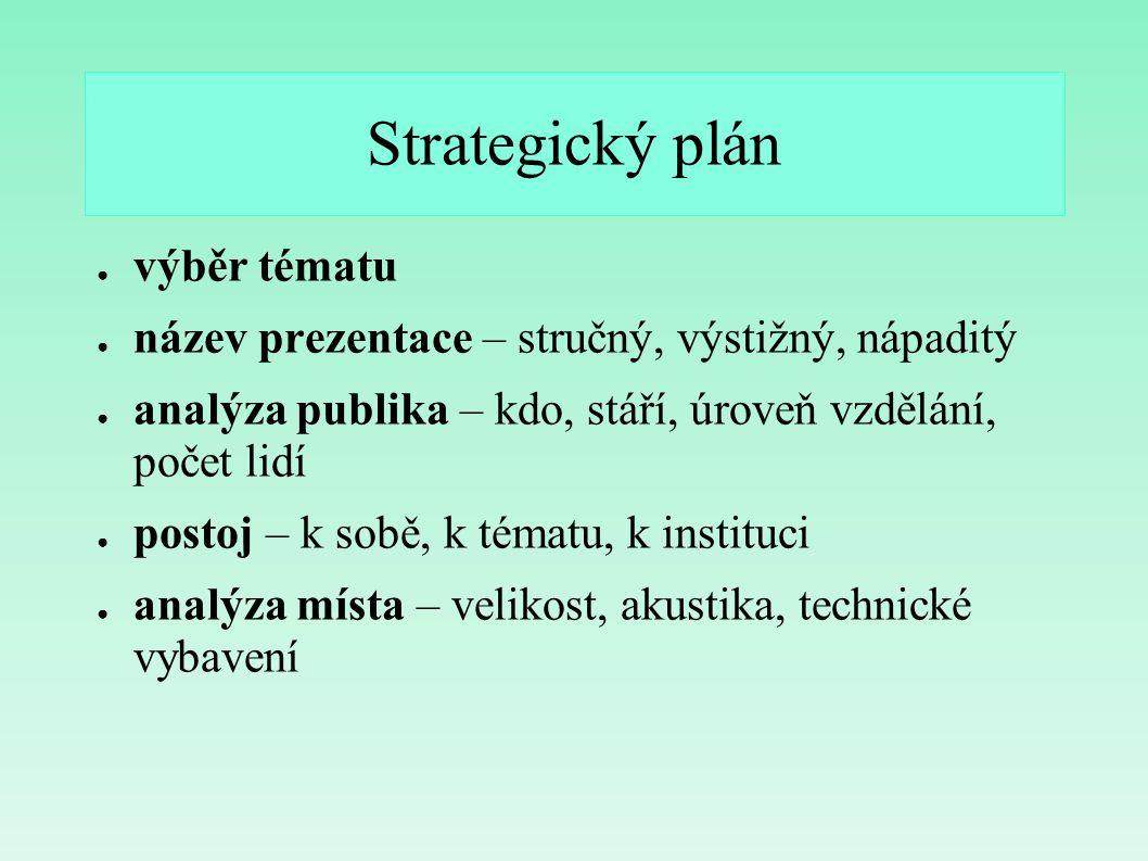 Strategický plán výběr tématu