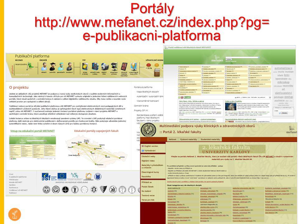 Portály http://www.mefanet.cz/index.php pg=e-publikacni-platforma