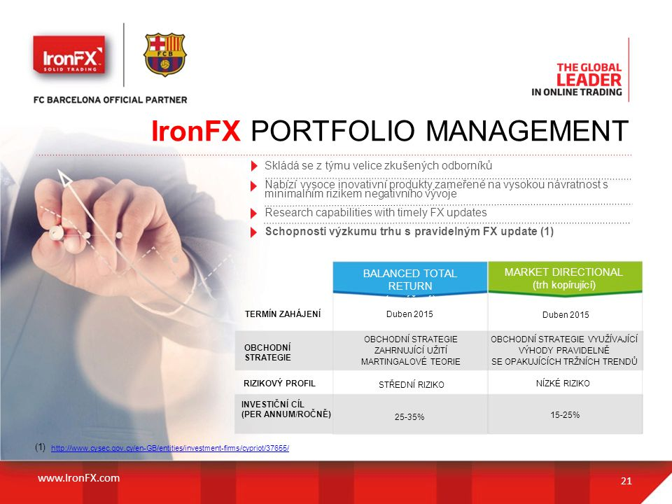 IronFX PORTFOLIO MANAGEMENT