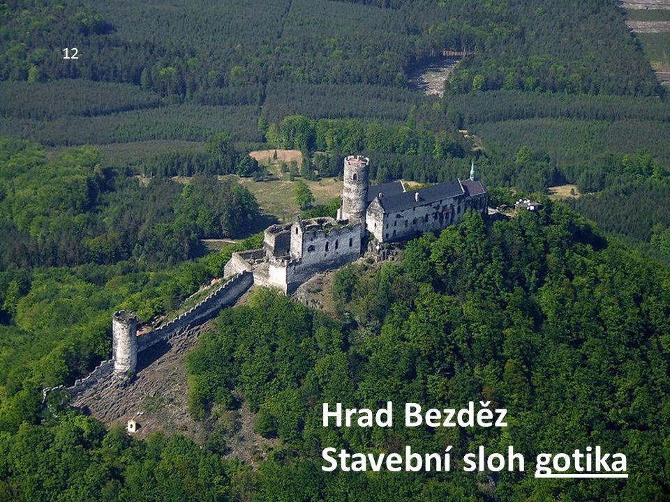 12 Hrad Bezděz Stavební sloh gotika
