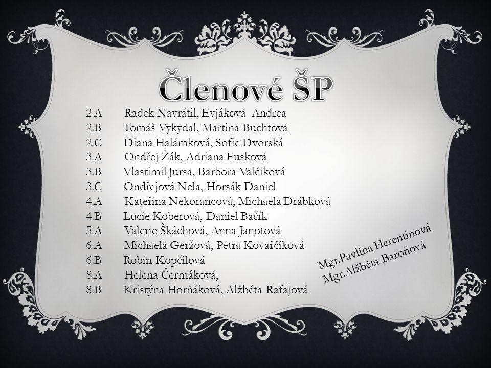 Členové ŠP 2.A Radek Navrátil, Evjáková Andrea