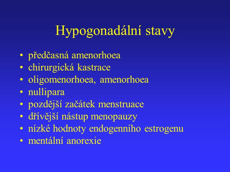 Hypogonadální stavy předčasná amenorhoea chirurgická kastrace