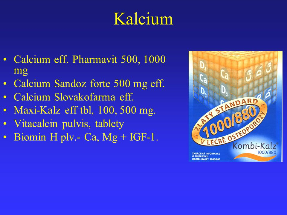 Kalcium Calcium eff. Pharmavit 500, 1000 mg