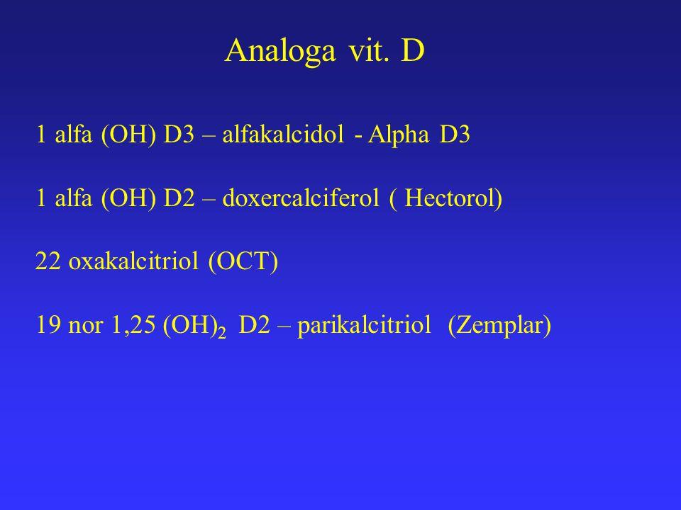 Analoga vit. D 1 alfa (OH) D3 – alfakalcidol - Alpha D3
