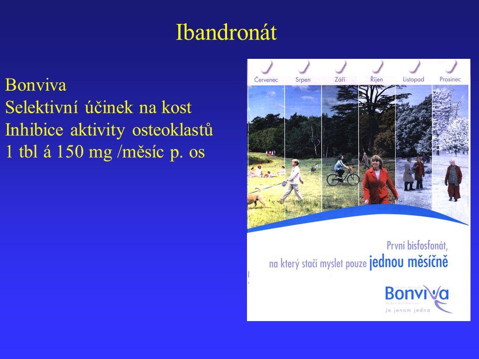 Ibandronát Bonviva Selektivní účinek na kost