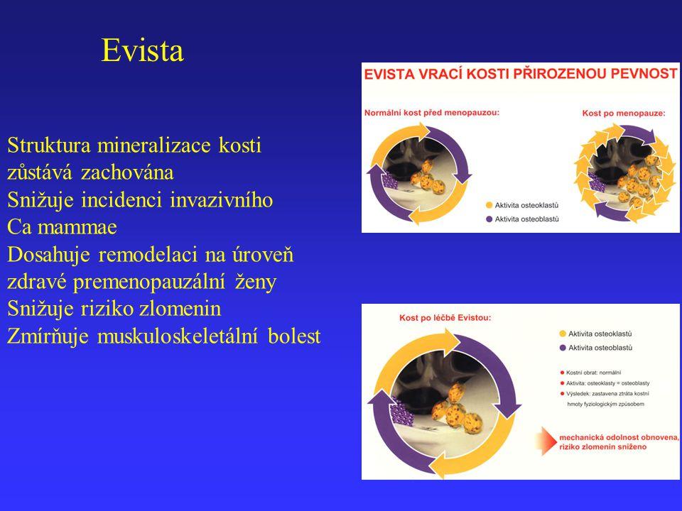 Evista Struktura mineralizace kosti zůstává zachována