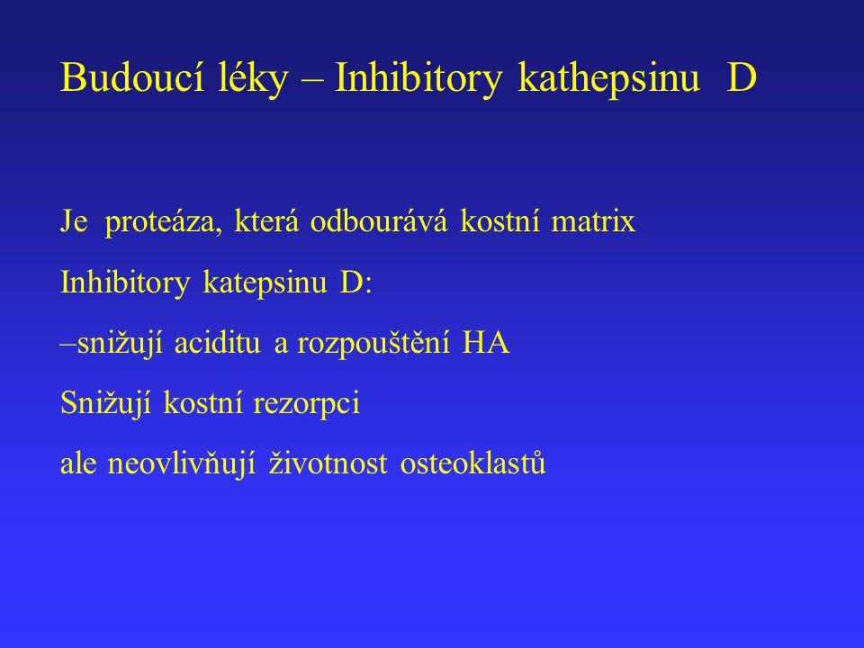 Budoucí léky – Inhibitory kathepsinu D