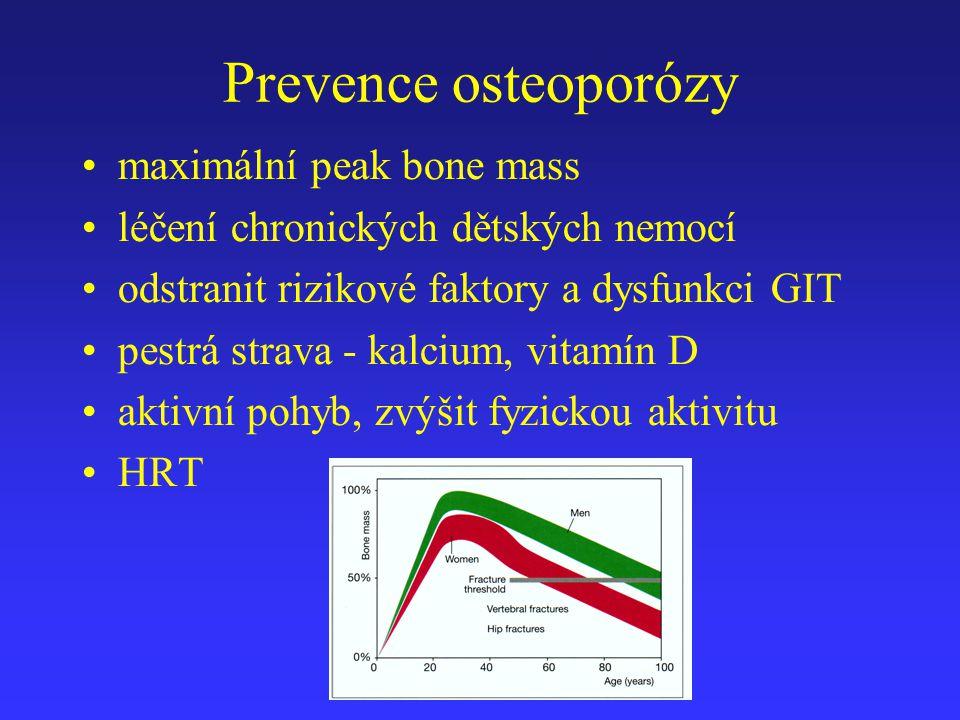 Prevence osteoporózy maximální peak bone mass