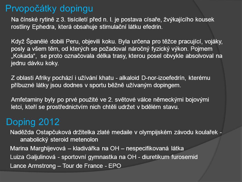 Prvopočátky dopingu Doping 2012