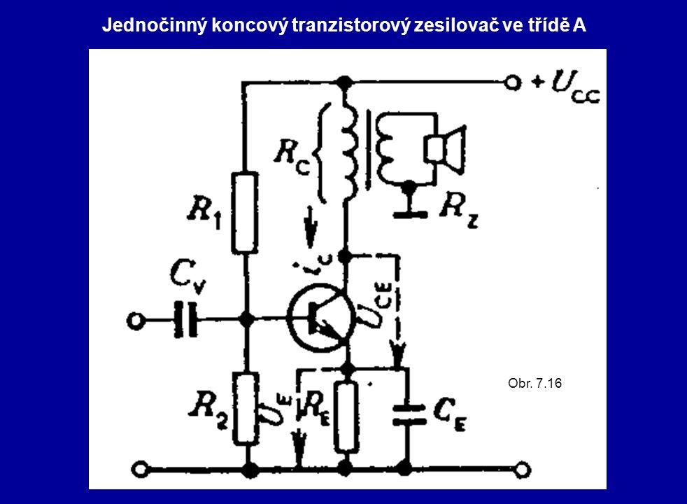 Jednočinný koncový tranzistorový zesilovač ve třídě A