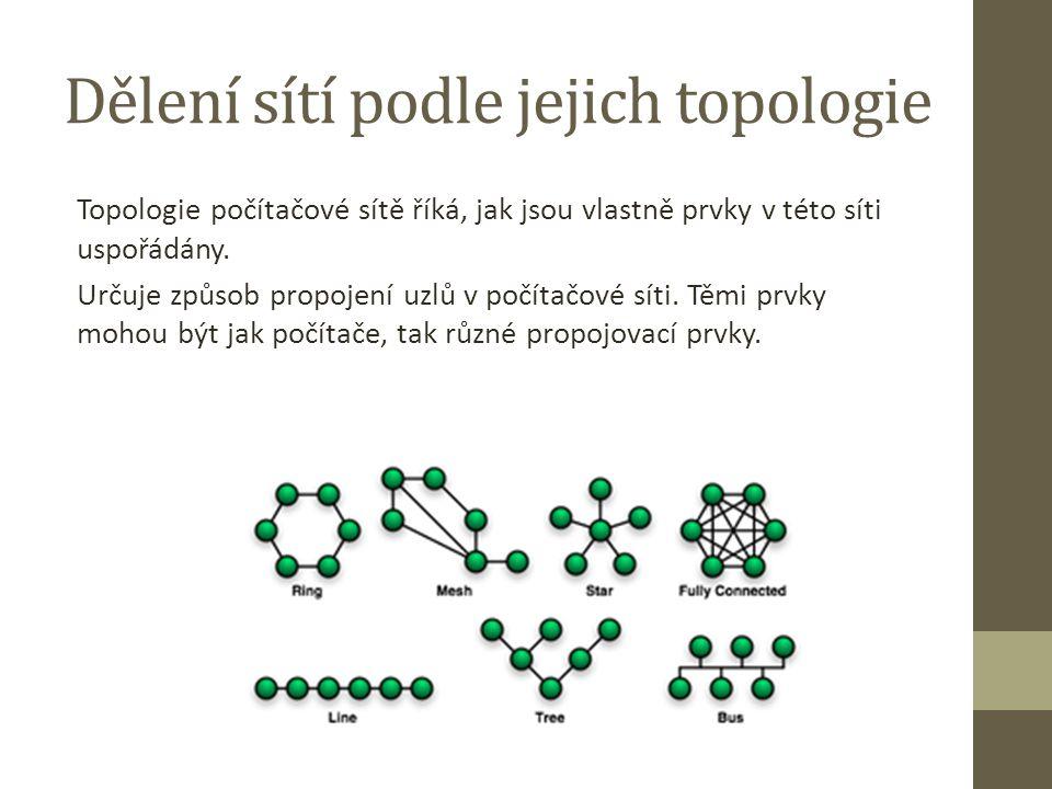 Dělení sítí podle jejich topologie