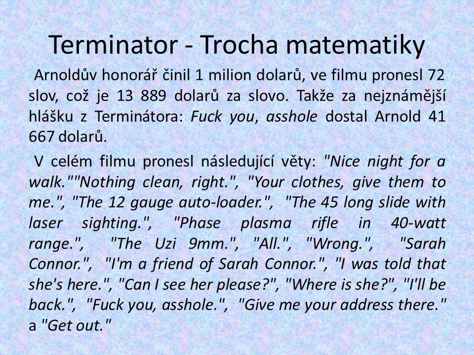 Terminator - Trocha matematiky