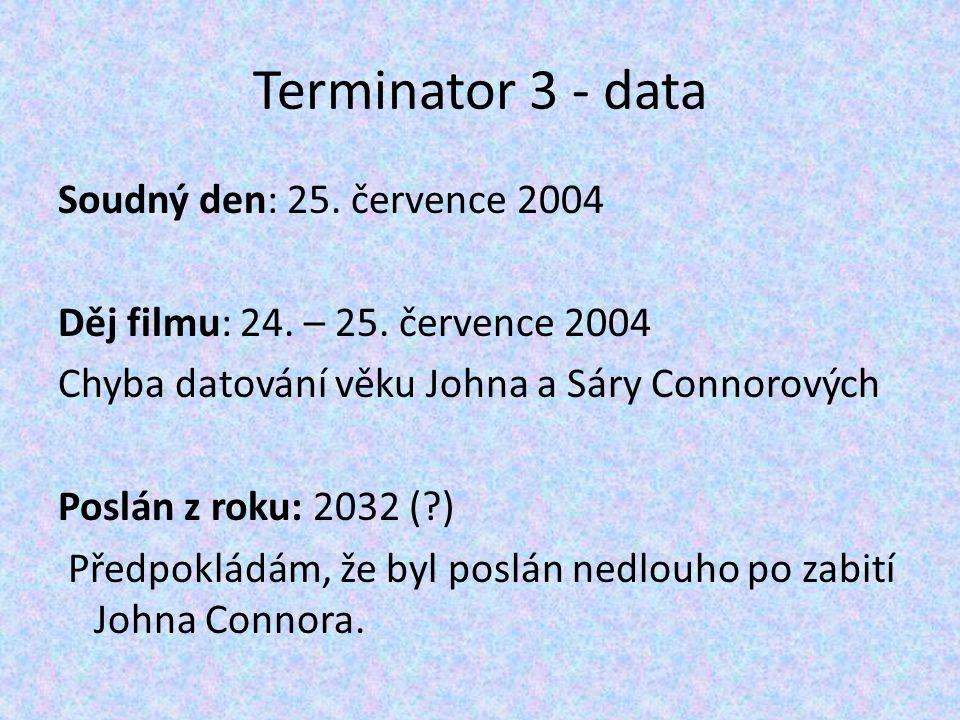 Terminator 3 - data