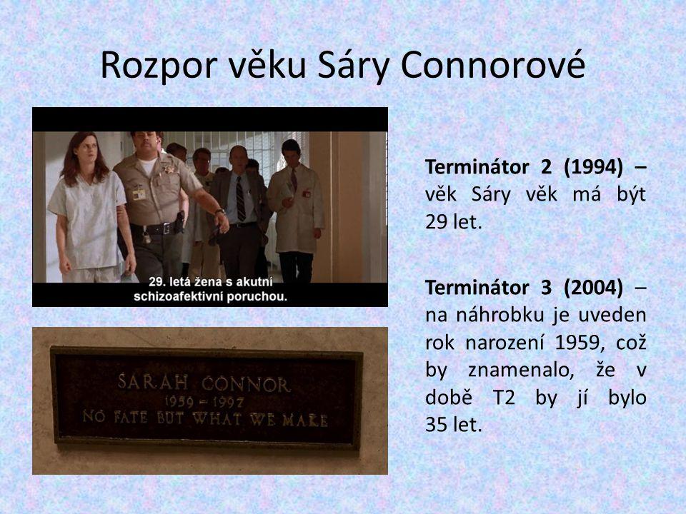 Rozpor věku Sáry Connorové