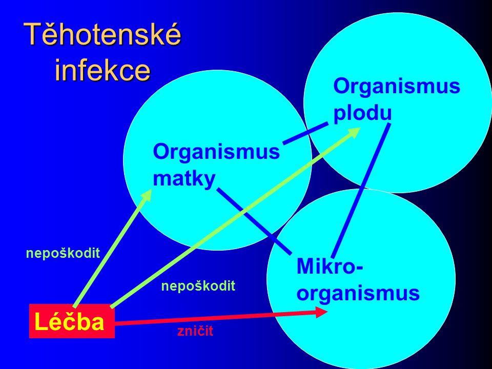 Těhotenské infekce Léčba Organismus plodu Organismus matky
