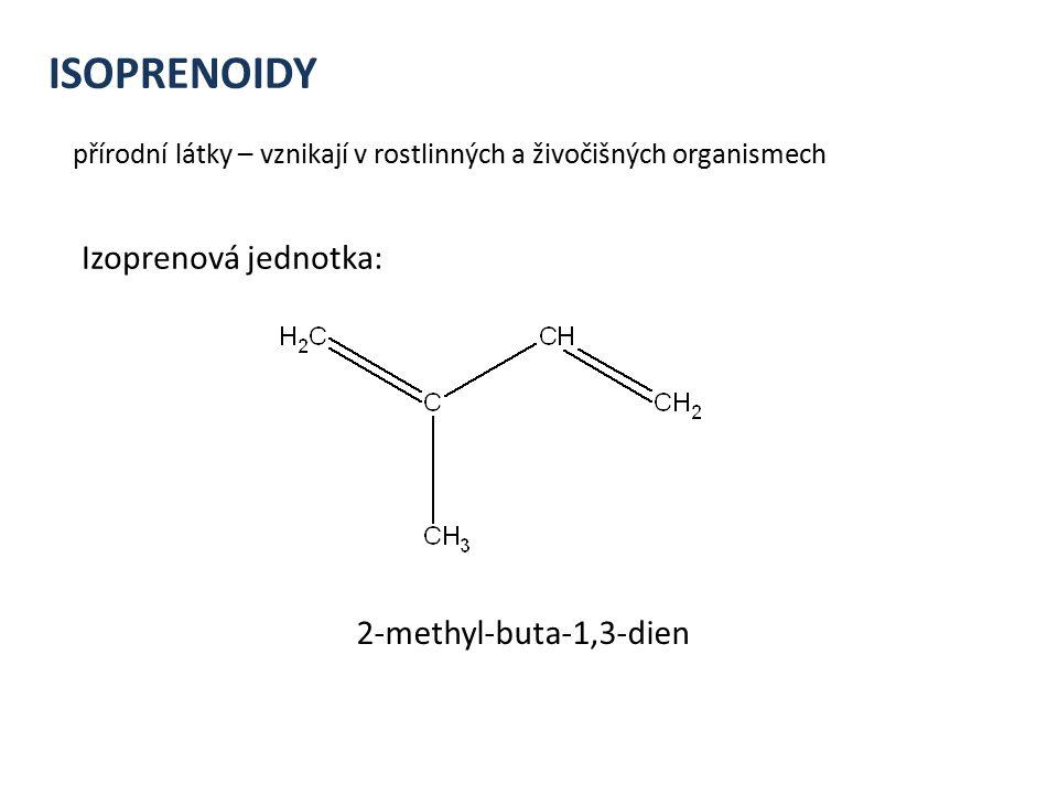 ISOPRENOIDY Izoprenová jednotka: 2-methyl-buta-1,3-dien