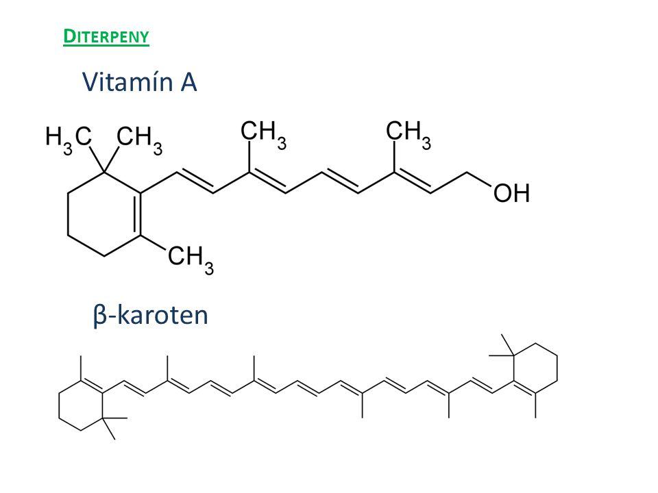 Diterpeny Vitamín A β-karoten