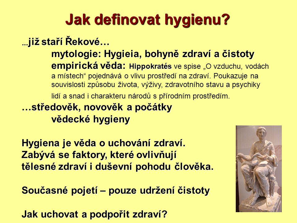 Jak definovat hygienu …již staří Řekové…