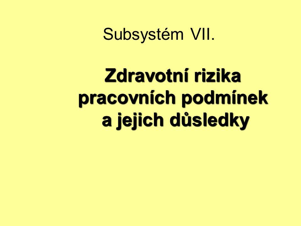Subsystém VII. Zdravotní rizika pracovních podmínek a jejich důsledky