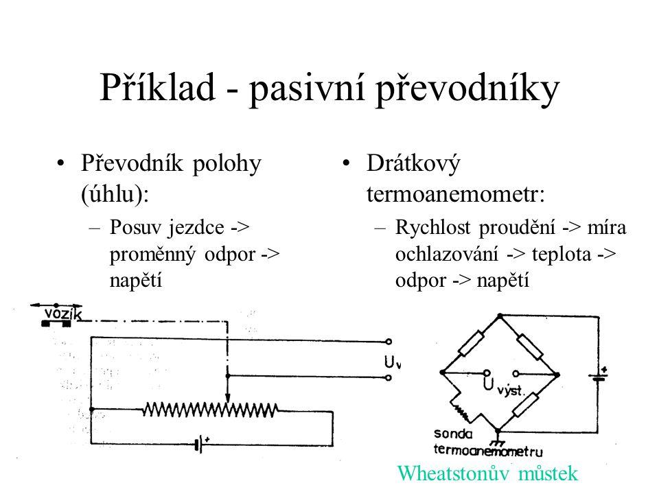 Příklad - pasivní převodníky