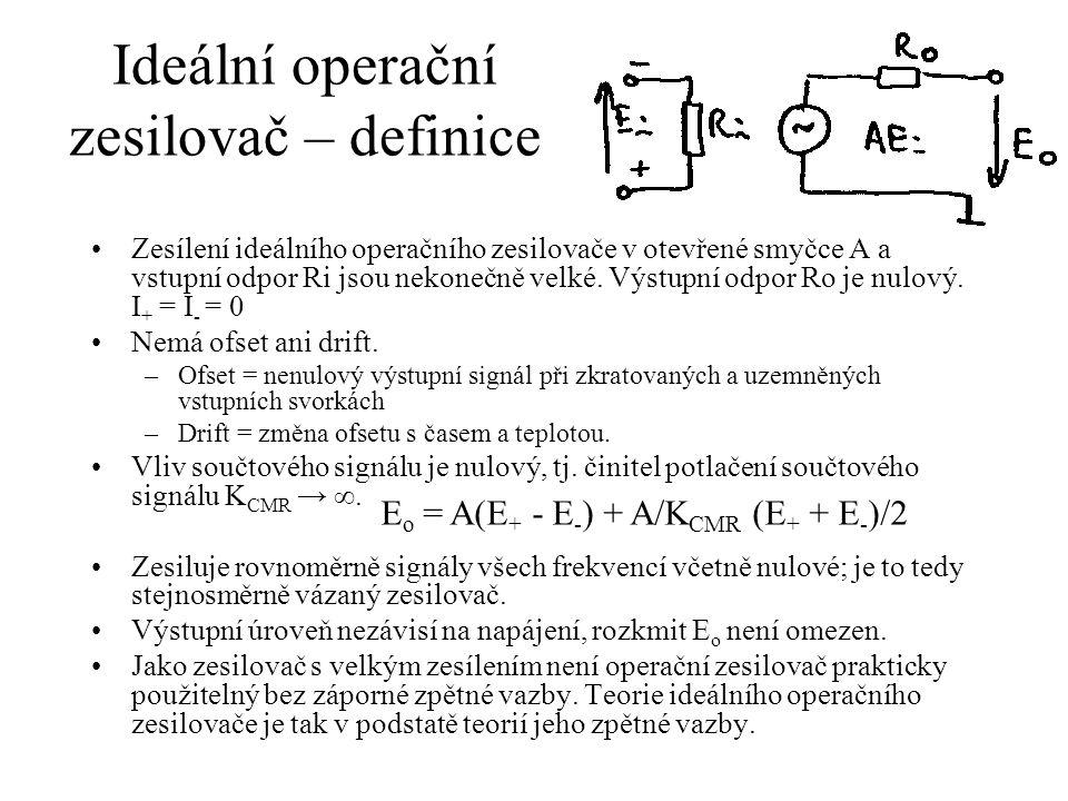 Ideální operační zesilovač – definice