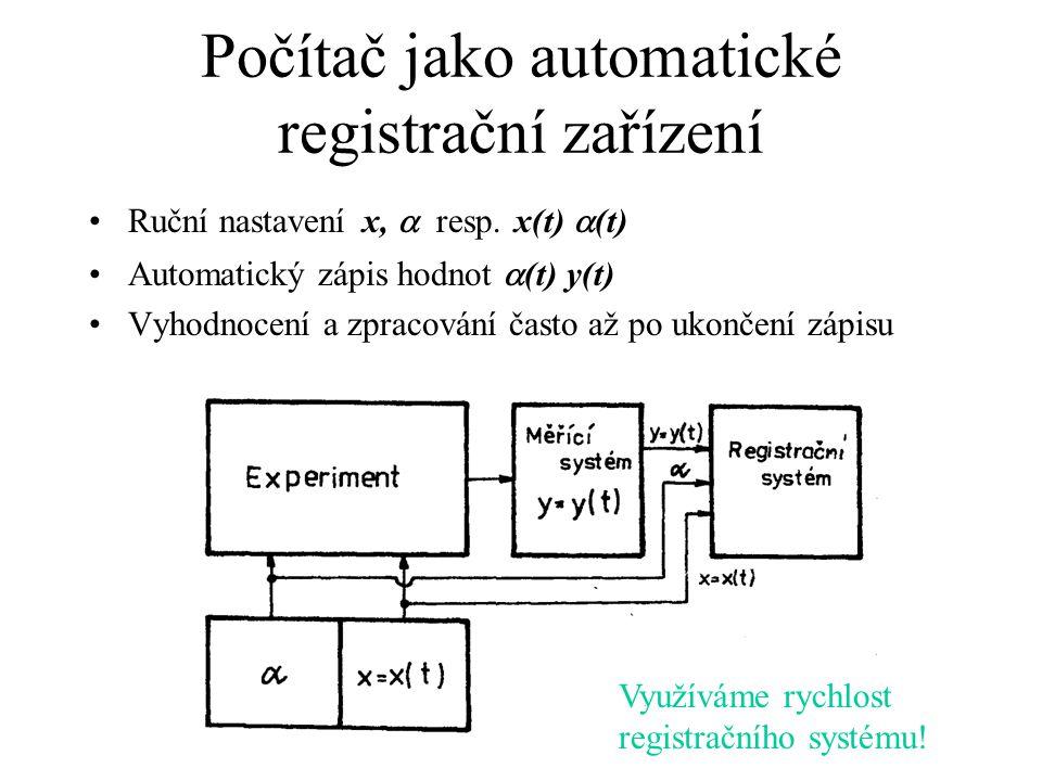 Počítač jako automatické registrační zařízení