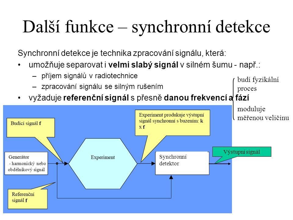 Další funkce – synchronní detekce