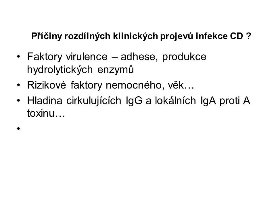 Příčiny rozdílných klinických projevů infekce CD
