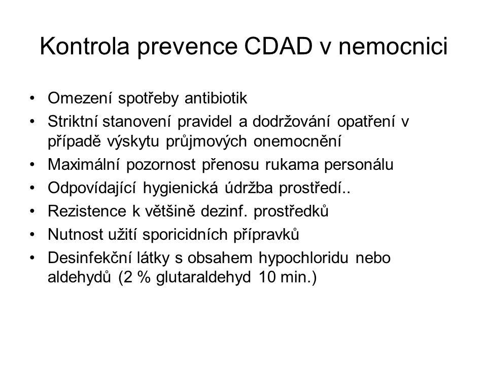 Kontrola prevence CDAD v nemocnici