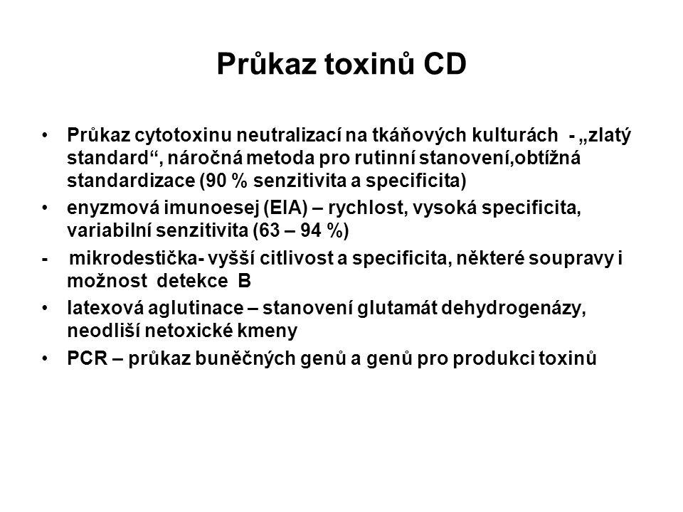 Průkaz toxinů CD