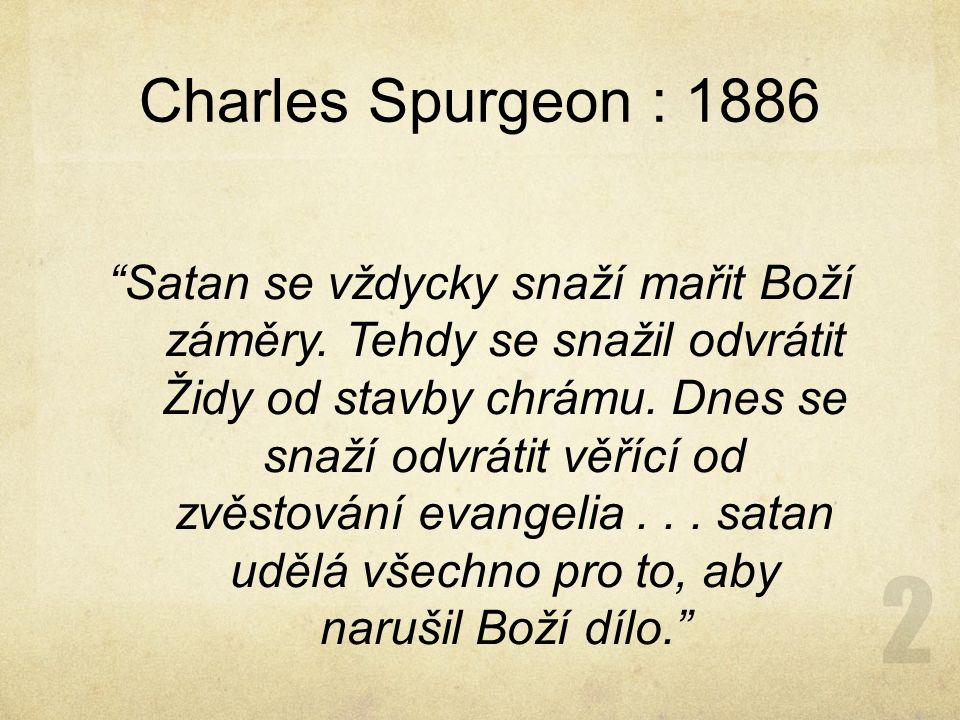 Charles Spurgeon : 1886