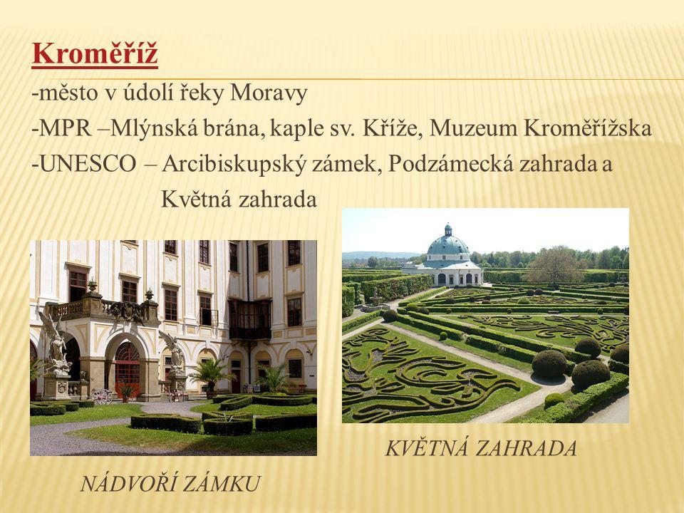 Kroměříž -město v údolí řeky Moravy