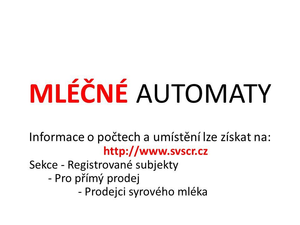 Informace o počtech a umístění lze získat na: http://www.svscr.cz