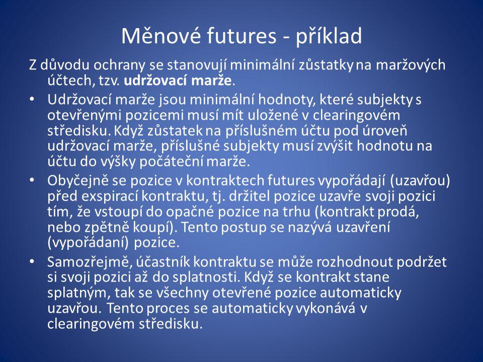 Měnové futures - příklad