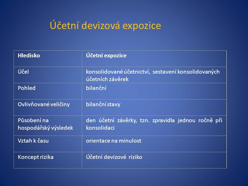 Účetní devizová expozice