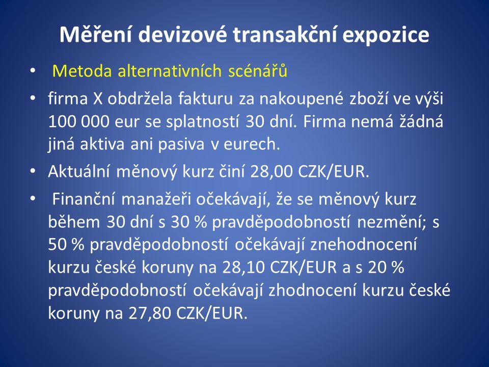 Měření devizové transakční expozice