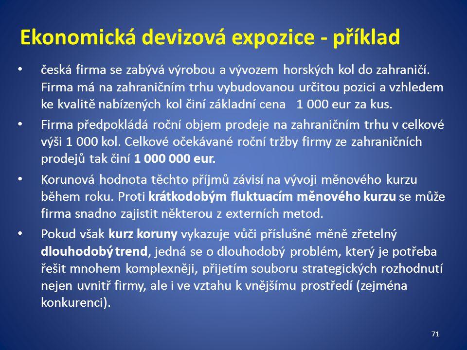 Ekonomická devizová expozice - příklad