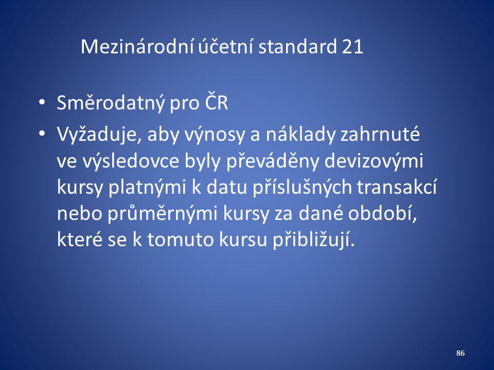 Mezinárodní účetní standard 21