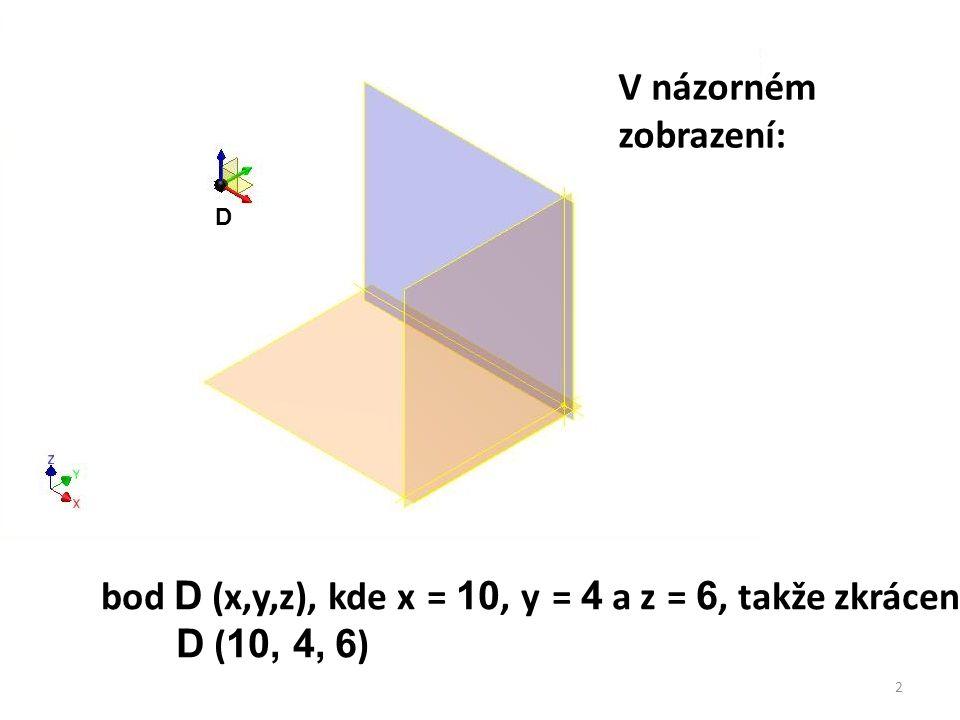 bod D (x,y,z), kde x = 10, y = 4 a z = 6, takže zkráceně