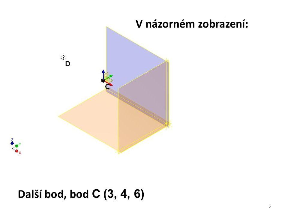 V názorném zobrazení: D C Další bod, bod C (3, 4, 6)