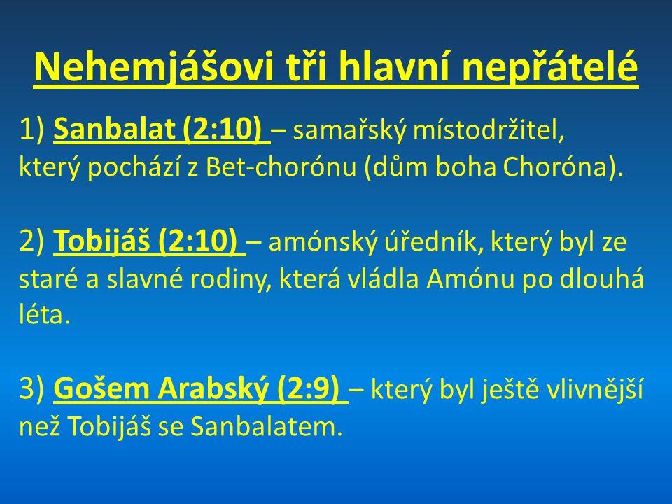 Nehemjášovi tři hlavní nepřátelé