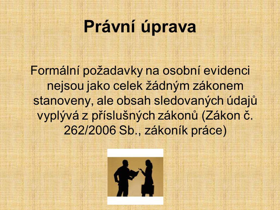 Právní úprava