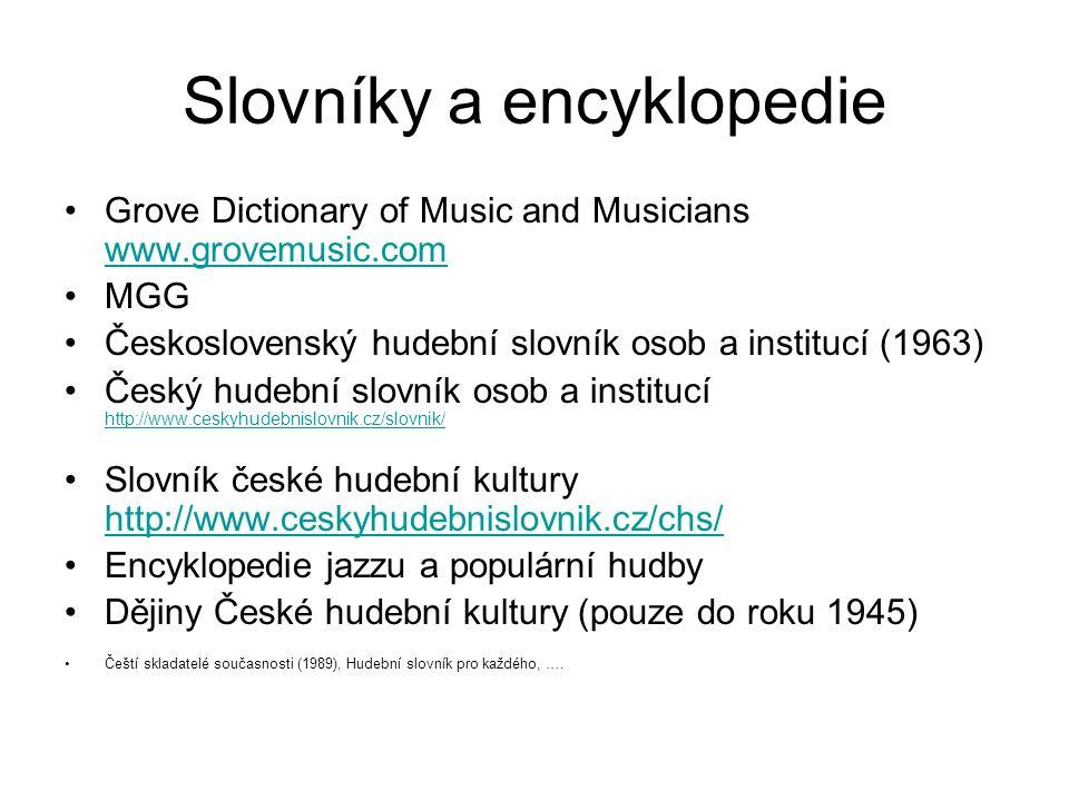Slovníky a encyklopedie