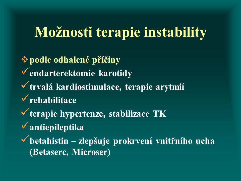 Možnosti terapie instability